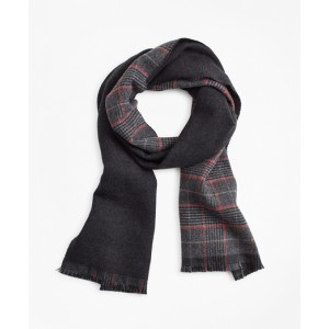 Double-Faced Glen Plaid Scarf