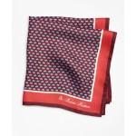 Elephant-Patterned Pocket Square