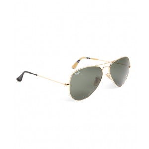 Ray-Ban Aviator Sunglasses with Yellow BB#1 Rep Stripe