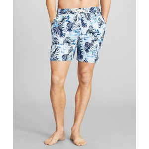 Montauk 6 Leaf Print Swim Trunks