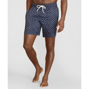 Montauk 6 Indigo Dot Swim Trunks
