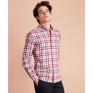 Gingham Brushed Twill Sport Shirt