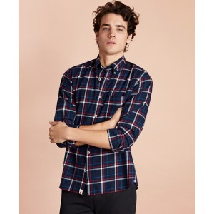 Plaid Brushed Twill Sport Shirt