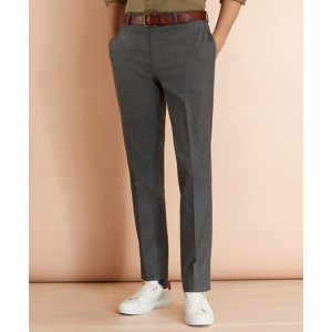 Cotton-Blend Houndstooth Trousers
