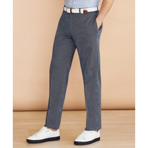 Striped Cotton Stretch Trousers