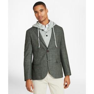 Windowpane Two-Button Wool-Blend Sport Coat
