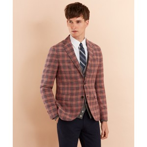 Plaid Cotton-Blend Dobby Sport Coat