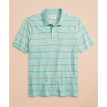 Multi-Color Stripe Slub Jersey Polo Shirt