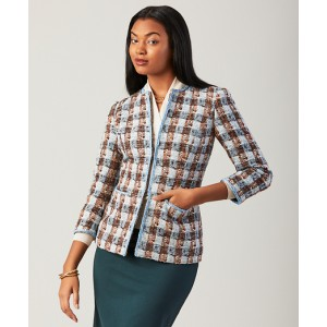 Checked Shimmer Boucle Jacket