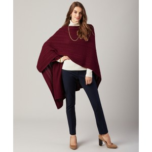 Cable-Knit Wool-Blend Ruana