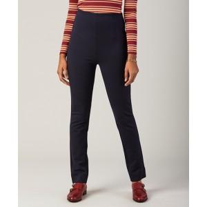 High-Waist Ponte Knit Ankle Pants
