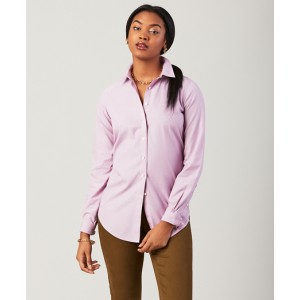 Non-Iron Classic-Fit Striped Stretch Cotton Poplin Shirt