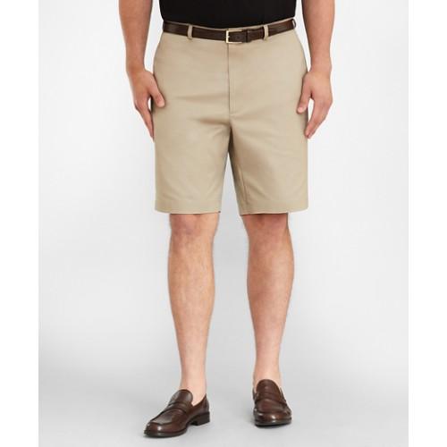 Big & Tall Flat Front Stretch Advantage Chino Shorts