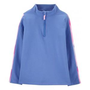 Half-Zip Jersey Pullover