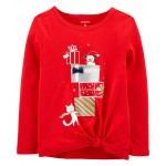 Christmas Tie-Front Jersey Tee