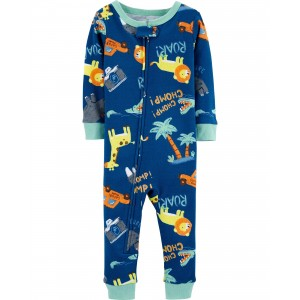 1-Piece 100% Snug Fit Cotton Footless PJs