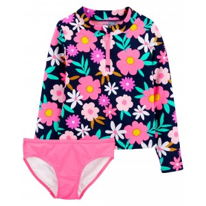 Carters Floral 2-Piece Rashguard Set