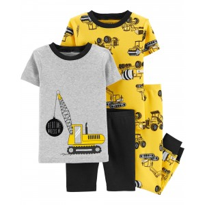 4-Piece Construction 100% Snug Fit Cotton PJs