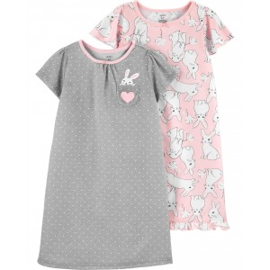 2-Piece Bunny Nightgowns