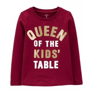 Queen Of The Kids Table Jersey Tee