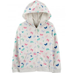 Butterfly Zip-Up French Terry Hoodie