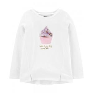 Interactive Cupcake Jersey Top
