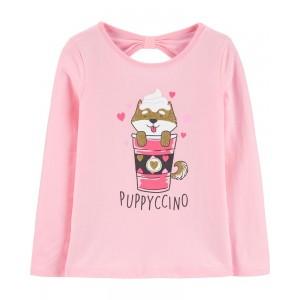 Puppyccino Bow Back Tee