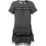 polka dot print ruffled dress