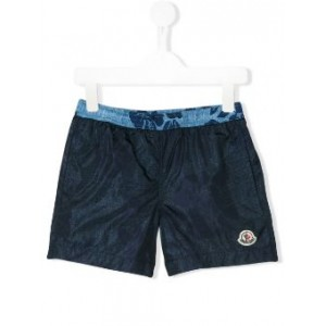 embroidered logo swim shorts