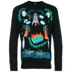 illustrated graphic sweater