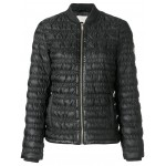 creased effect puffer jacket