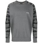 camouflage sleeve sweatshirt