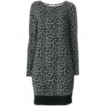 leopard and houndstooth printed dress