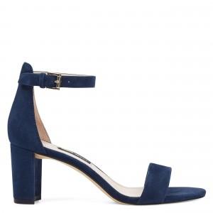 Pruce Ankle Strap Block Heel Sandals