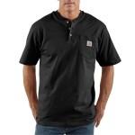 Workwear Pocket Short-Sleeve Henley Shirt - Mens