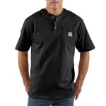 Workwear Pocket Short-Sleeve Henley Shirt - Mens