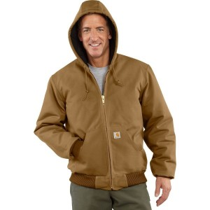 Quilted Flannel-Lined Duck Active Jacket - Mens