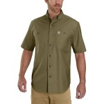 Rugged Flex Rigby Short-Sleeve Work Shirt - Mens
