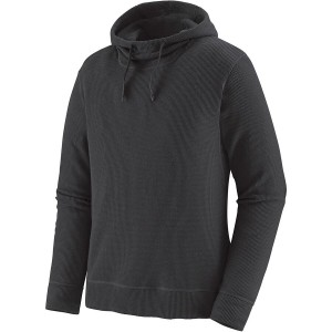 Waffle Knit Pullover Hoodie - Mens
