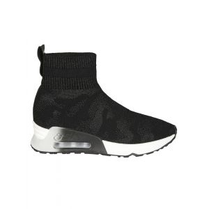 Ash Womens Black Cotton Hi Top Sneakers