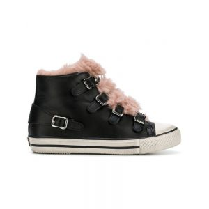Ash Womens Black Leather Hi Top Sneakers