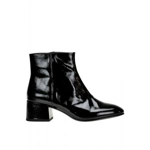 Ash Womens Black Patent Leather Ankle Boots