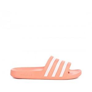 Adidas Womens Adilette Aqua Slide Sandal - Coral