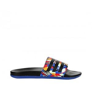 Adidas Womens Adilette Comfort Slide Sandal - Navy