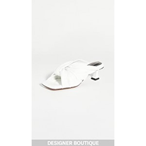 Knot Square Toe Slide Sandals