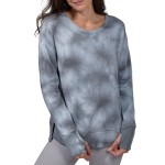 Brushed Knit Tie Dye Long Sleeve Top