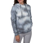 Brushed Knit Tie Dye Cross Neck Oversized Hoodie