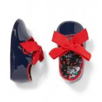 Baby Patent Bow Crib Shoe