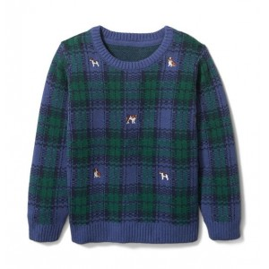 Plaid Embroidered Pullover