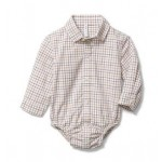Baby Plaid Poplin Bodysuit